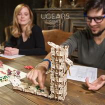 乌克兰ugears乌格塔罗牌桌游盒周边木质机械传动模型拼装玩具礼物