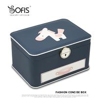 Sofis Pony multi-layer jewelry box storage box Household lock large capacity earrings Ring necklace Jewelry jewelry
