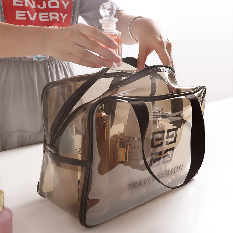 Cosmetic bag ladies portable large-capacity travel travel essential artifact bathroom bag wash gargle receptacle bag wash condom