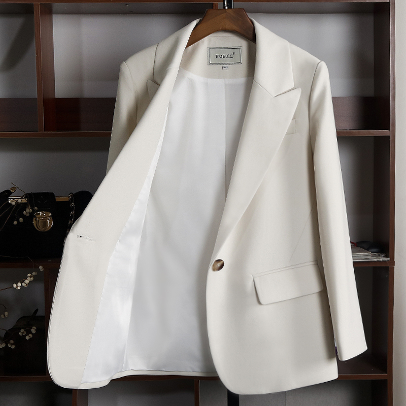 Korean version of the 2021 spring new casual temperament small suit jacket small slim thin blazer women