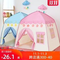 Indoor childrens tent game house male and girl princess castle stacked small house sleeping house oversized dressed as home wine number