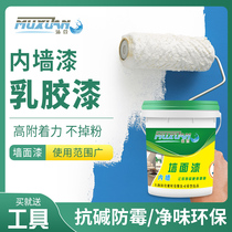 Latex paint indoor home color wall flour brush wall paint gray interior wall self-painting environmentally friendly refurbished paint