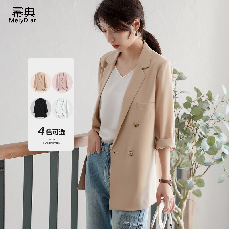 Thin blazer women 2021 summer new Korean version of the drooping casual net red burst chiffon small suit top