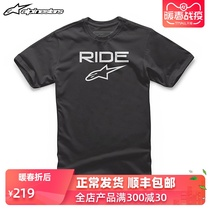 Italy A Star alpinestars casual T-shirt motorcycle riders short sleeve crew neck print couple cotton T-shirt
