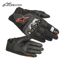a Star alpinestars Motorcycle Riding Gloves Summer Motorcycle rider equipment leather gloves SMX - 1 v2
