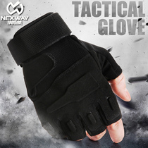 Outdoor Special Forces tactical training riding gloves half finger male Black Hawk anti-skid anti-cutting fighting Army fans full finger gloves