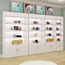 Cosmetics showcase shelves beauty salon products display cabinet simple modern cabinet container free combination European door
