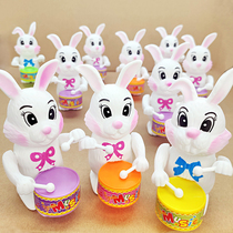 (Buy one get one free)Wind up Beat drum Toys Children animals Cartoon Rabbits like dogs Net red shake the sound of the ground