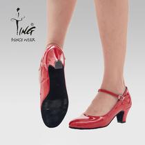 Chen ting dance shoes Xinjiang dance shoes National dance shoes square dance practice shoes with dancing shoe Girl