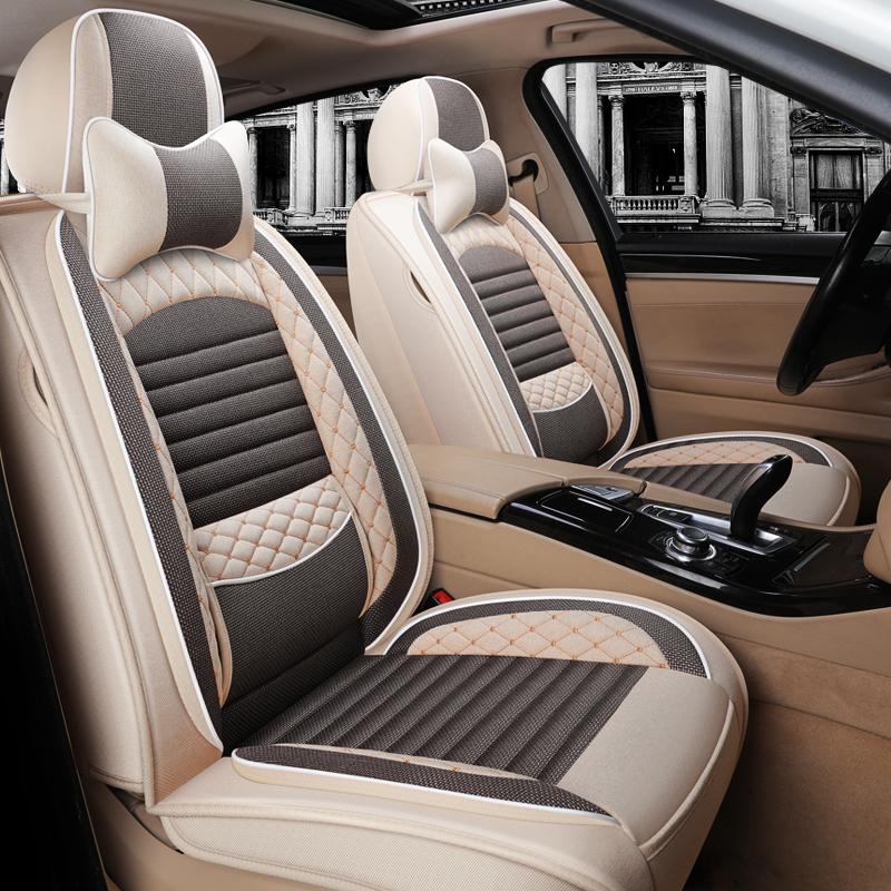 The new fabric Baole car cushion four seasons GM all-inclusive linen car cushion seat cushion car seat cover winter