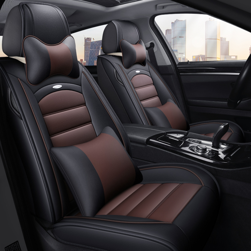 Car seat cover dedicated gm Carola to the dazzling Vichy Fiest Fox all-inclusive faux leather PU Four Seasons cushion