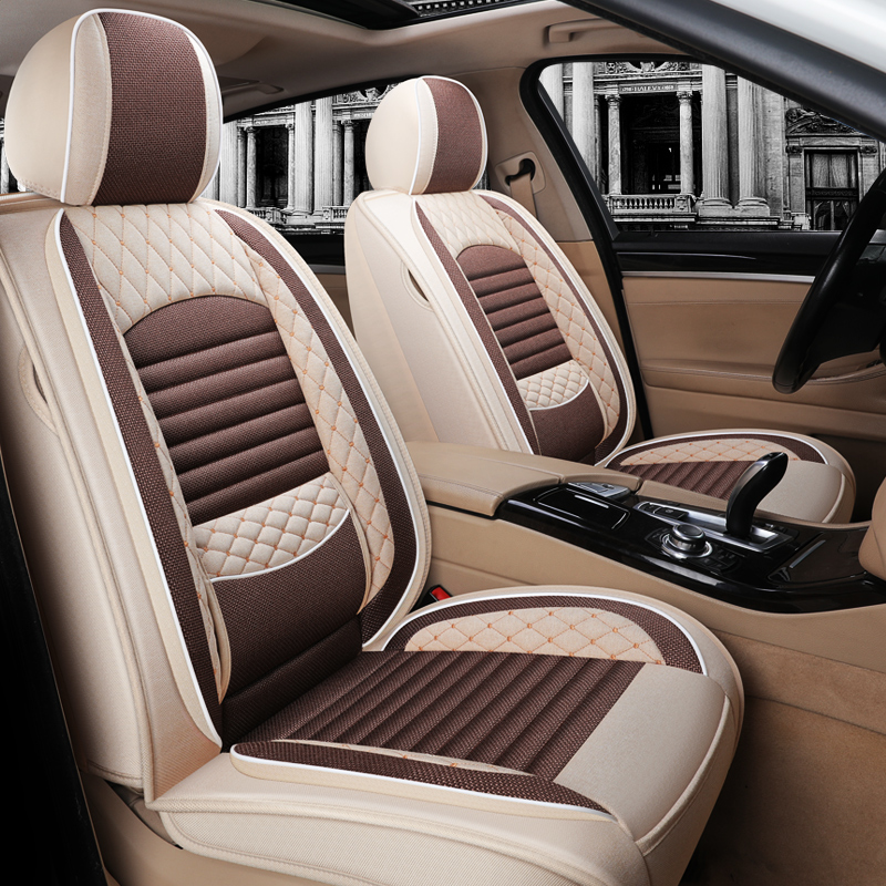 Car seat cushion four seasons general linen seat cover Kia KX CROSS Kia K2 all-inclusive seat cover men and women