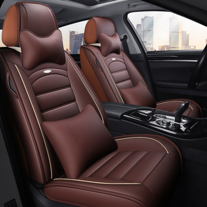 All-inclusive car seat cover specially designed for Honda Jedjade Four Seasons universal leather cushion set Jed modification