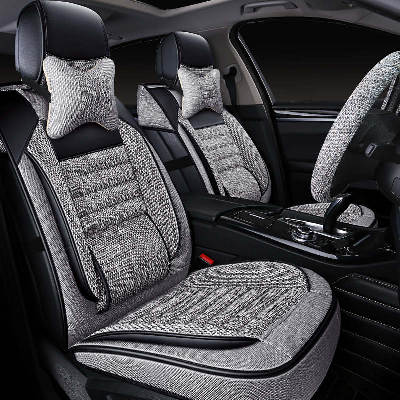 Car cushion four seasons general linen seat cover winter half-enveloping seat cushion 2021 new classic seat cover