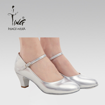 Chen ting dance shoes Xinjiang dance shoes Adult national square Dance practice shoes spring and summer with leather dancing shoe girl