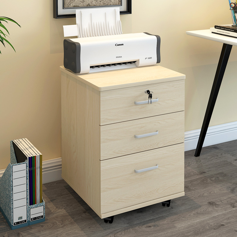 Wooden file cabinet small data office cabinet home drawer type with lock small cabinet assembly storage mobile low cabinet