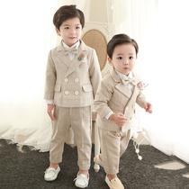 Мальчик костюм костюм британский стиль дети костюм мужской ребенок цветок девушка платье красивый день рождения корейский случайный