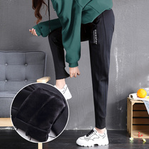 Plus velvet sports pants women autumn and winter 2019 New harem pants loose beam feet thick outer wear casual womens pants