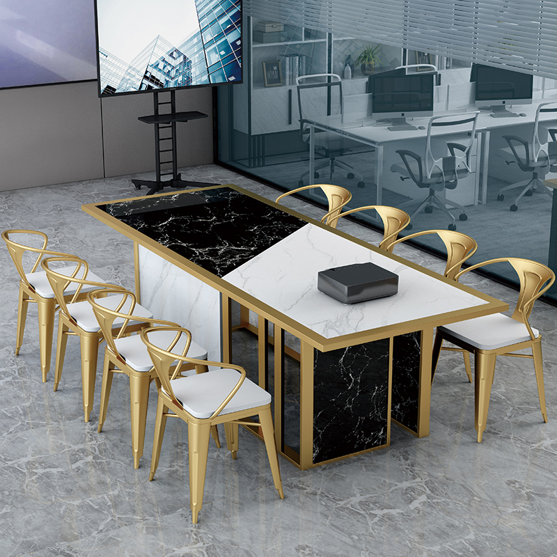 Light luxury conference table long table simple modern marble desk chair combination master design negotiation table long table