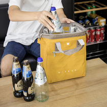 Large portable insulation when the bag lunch box bag ancient thick waterproof pot when the bag can be filled with beer and red wine