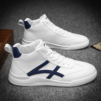 Spring mens shoes winter 2019 high white shoes mens Korean version of the trend casual shoes wild white board shoes mens shoes