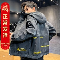 2020 spring new mens jacket spring and autumn Korean version of the function of the trend Joker tooling Jacket Mens clothing