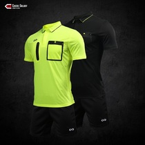 CG match player balance football referee suit mens and womens breathable sweat-absorbing short sleeves slim match referee print team emblem
