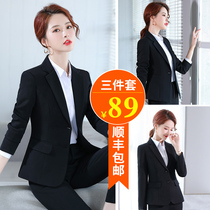 Formwear women professional suits business clothes temperament college students spring and autumn black suit jacket women size