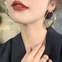 Earrings 2020 new trendy ear needles European and American wind earrings ancient net red earrings female exaggerated personality Korean temperament