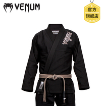 VENUM BJJ venom judo tracksuit black mens and womens Brazilian judo training clothes white adult model thickened