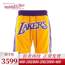 Mitchell physical Lakers JUST DON James with MPM retro basketball pants male sports shorts