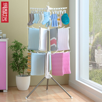 Baby clothes hangers floor-to-ceiling folding childrens bedroom hangers household diaper racks drying shelves to collect rack artifacts