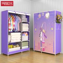 Armoire simple tissu armoire armoire de rangement chambre tissu armoire Assemblée suspendus dortoir location Chambre avec moderne simplicité