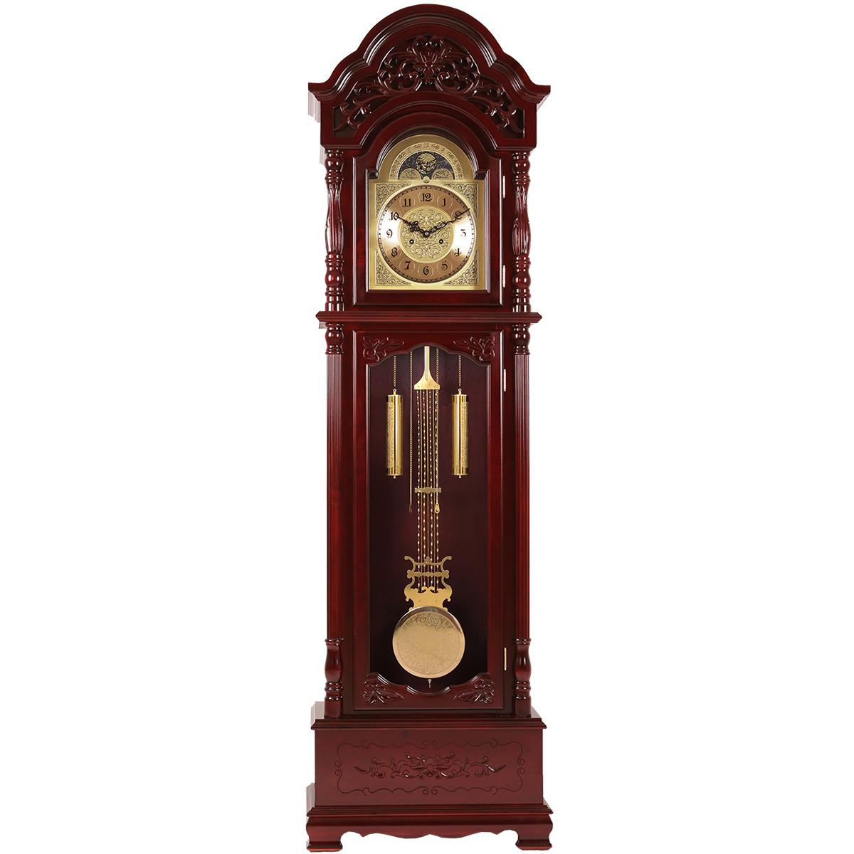 Horloge classique en bois massif Polaris horloge verticale de type horloge de plancher horloge de style européen pendule horloge lorsque l'horloge de siège mécanique