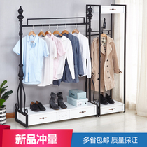 European-style clothing store display stand floor-style womens clothing store mens clothing store Childrens clothing store display Nakajima iron display stand