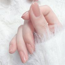 Can tear Nail Polish women long-lasting baking-free quick-drying non-toxic tasteless nail transparent waterproof nude color set full set of glue