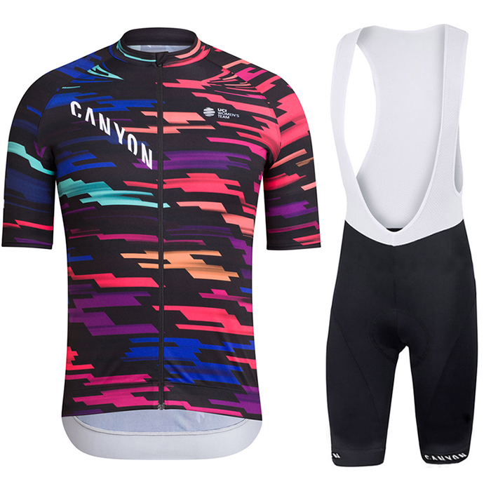 New CANYON Summer Cycling Clothes Short sleeve Suit Men's Bicycle Mountain Bike Riding Belt Shorts