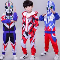 Ультрачеловек одежда для мальчиков весенний костюм корейская версия нового приливного мальчика красивый человек-паук весна и осень детская одежда