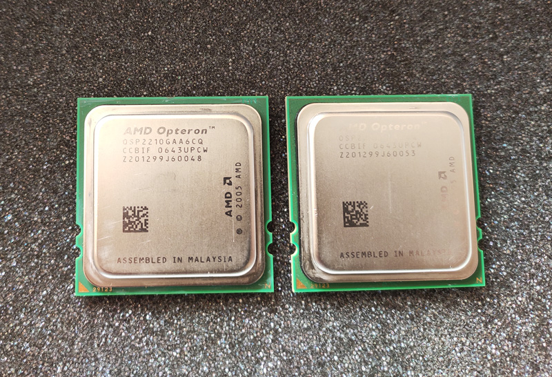 AMD Opteron server CPU 2005 one-on-two (collectibles) are available
