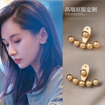 Prince Wen with the same earrings female niche design sense high-end light luxury earrings summer models 2021 new fashion earrings