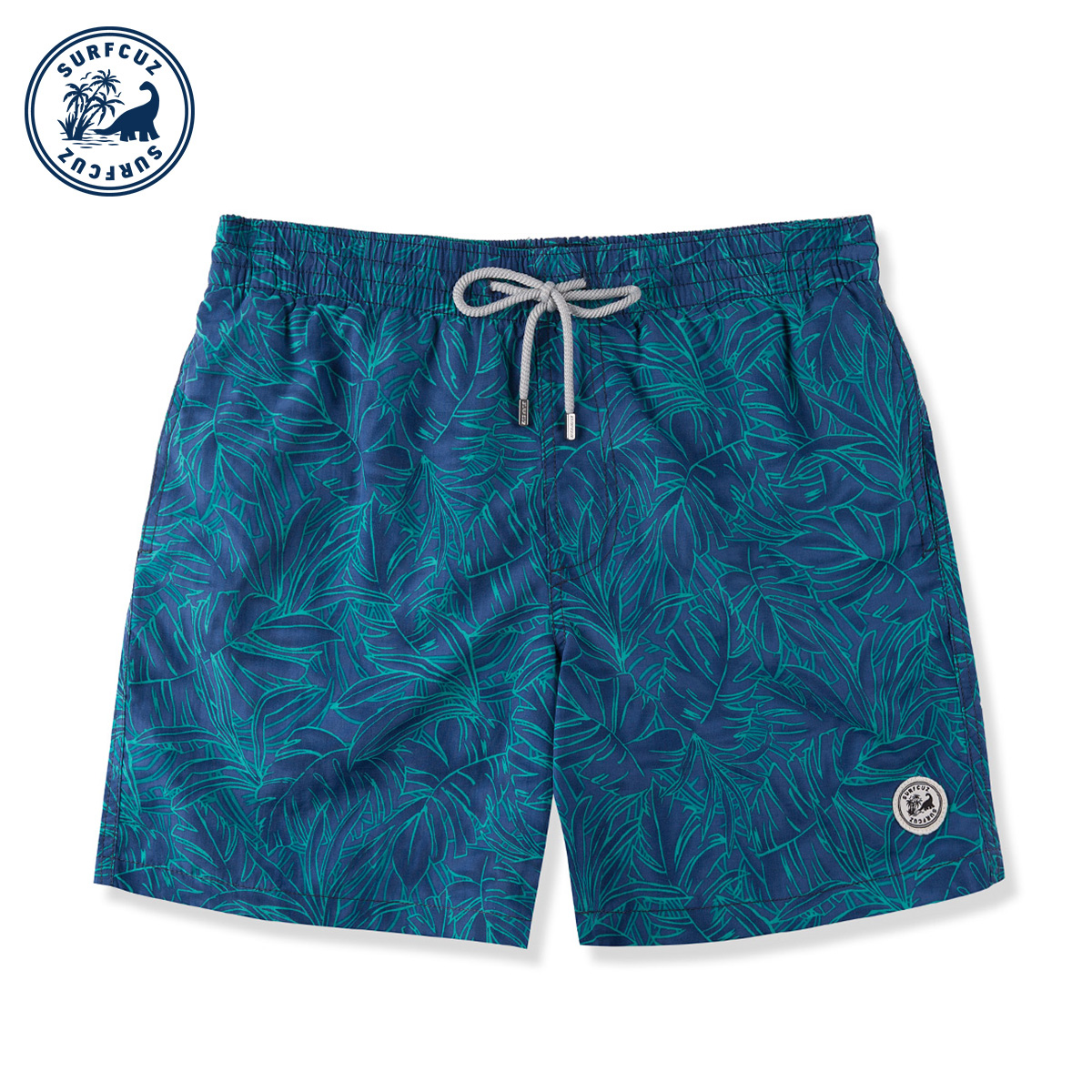 Surfcuz Hot Springs mens casual shorts fast dry loose-fitting large size seaside vacation can go under the water beach swimming trunks men