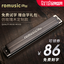 Romusic harmonica male and female advanced 24-hole polyphonic C tune beginner adult Children Primer professional Playing instrument