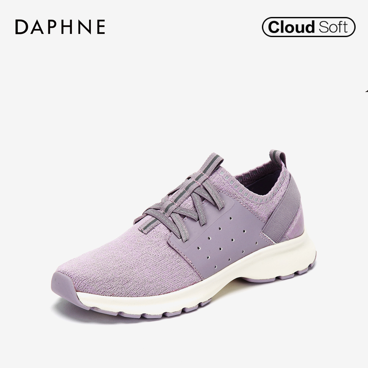 Daphne/ Daphne 2018 autumn new fashion color matching sports shoes knitted casual thick sole shoes women