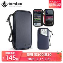 tomtoc passport folder long travel ticket large capacity storage card protective cover wallet anti-theft brush ID package