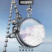 TOGGLER new original design Incompetent hidden heart Premium gold-plated transparent diamond crystal ball bag