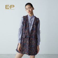 Shopping mall EP Yaying Fall 2019 new woolen tweed armless waistcoat 1033A