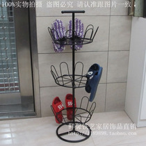 Hanging shoe rack outdoor yang yu household simple slippers hanging floor-to-ceiling shoe machine creative assembly iron drying rack
