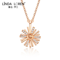 Linda Roland sun flower necklace female Korean version of simple 18k gold chain Light Luxury Network red tide Gold send girlfriend