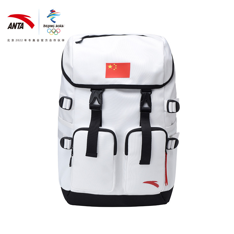 Anta Winter Olympic flag shoulder backpack 2021 spring new lightweight leisure multi-functional sports backpack tide