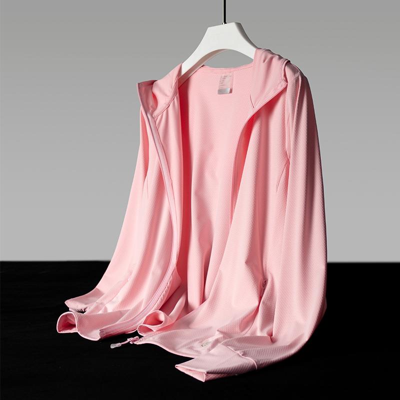 UPF50 plus ice silk sunscreen womens long-sleeved ultra-thin elastic coat mens skin clothing 2021 summer new model